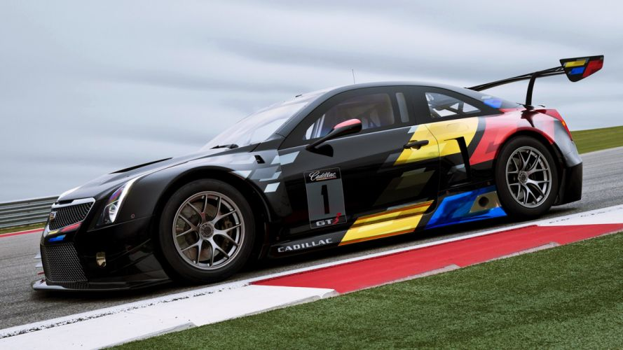 2015 Cadillac ATS-V R race speed supercars road motors cars new black fast wallpaper