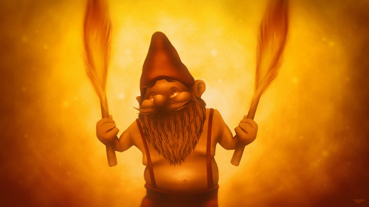 Fire gnome gnome download free wallpaper fire on fire hell mac pc wallpaper
