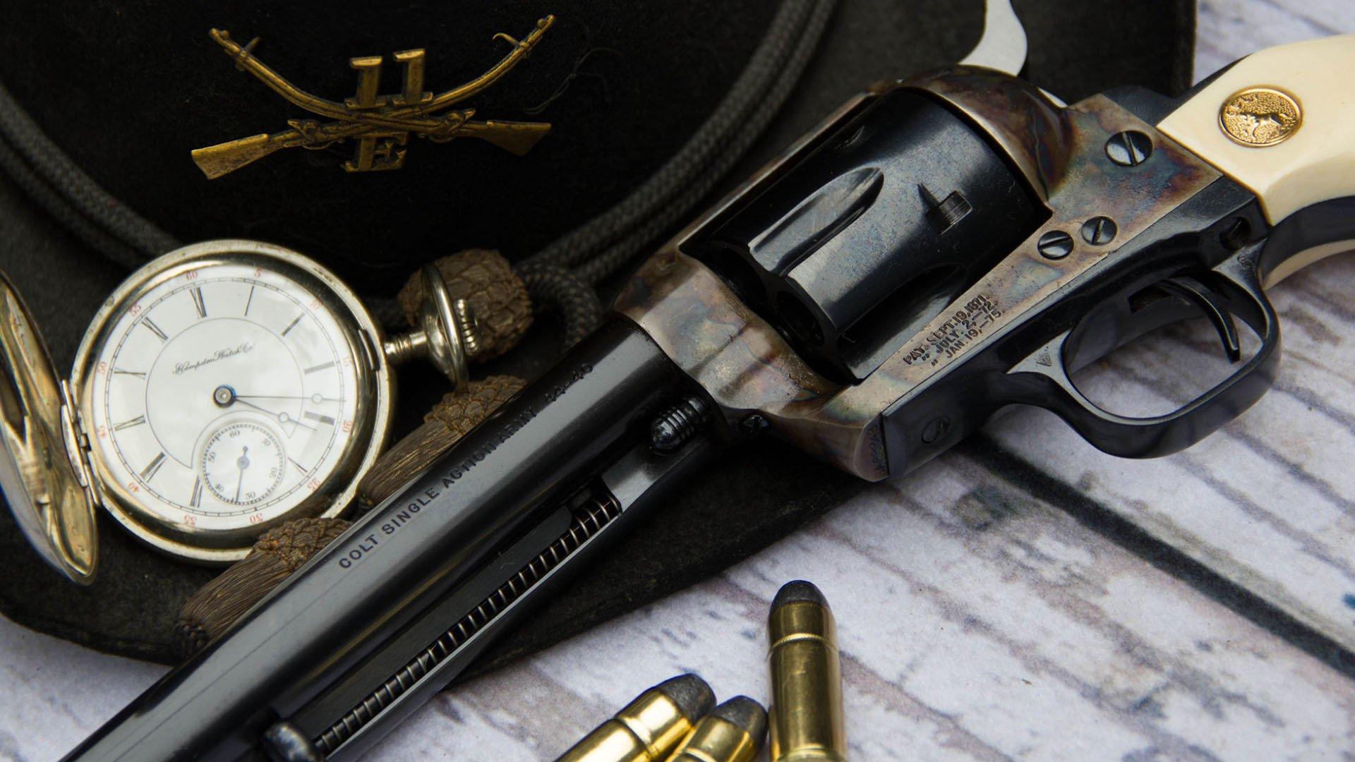 COLT ACTION ARMY REVOLVER GUN Wallpaper