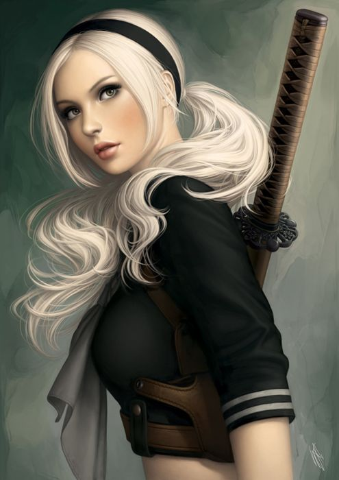 sucker+punch-baby+doll character movie blonde long hair sword beautiful face wallpaper