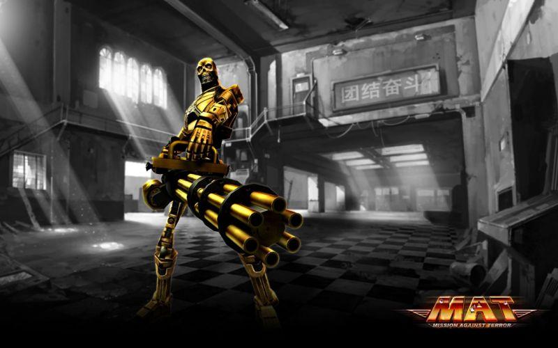 MISSION AGAINST TERROR mat action fighting 1mat adventure fps shooter online sci-fi warrior weapon gun poster robot terminator wallpaper