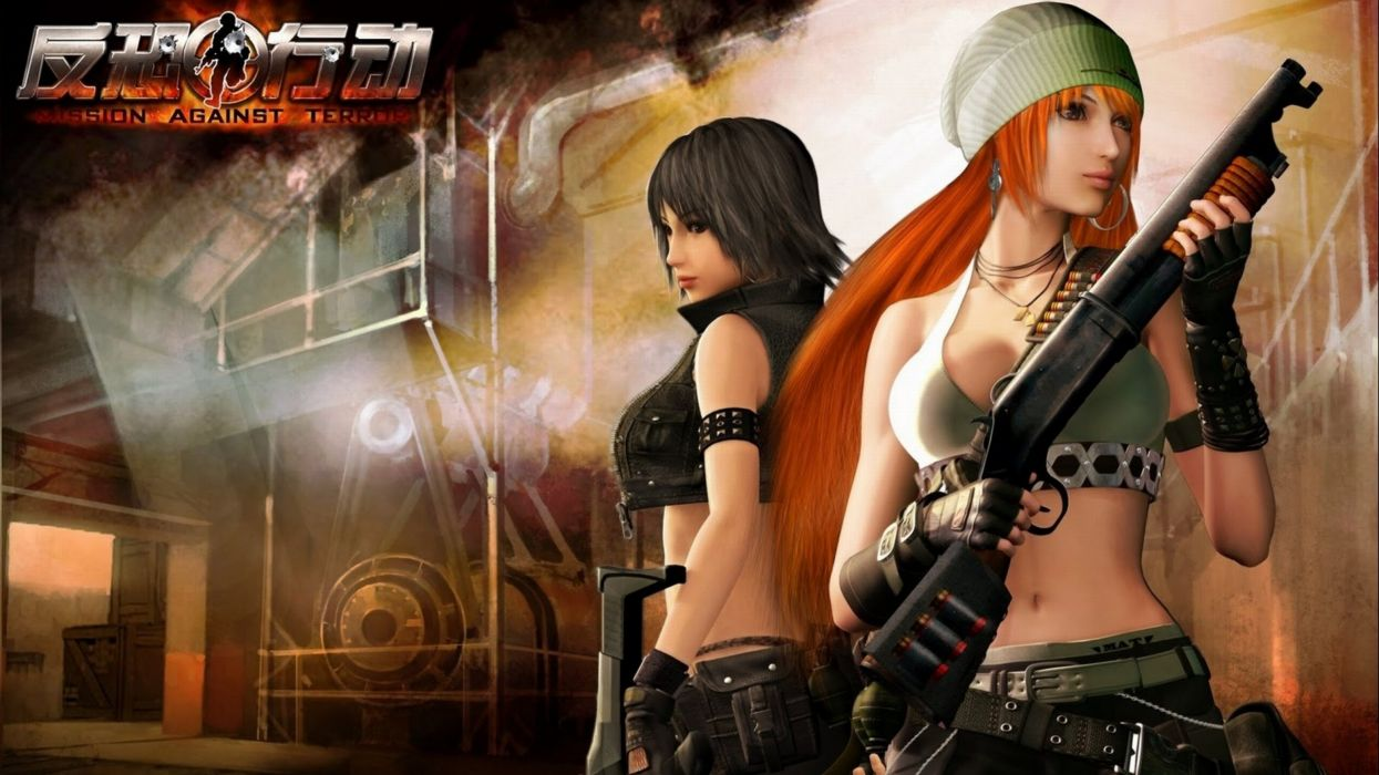 MISSION AGAINST TERROR mat action fighting 1mat adventure fps shooter online sci-fi warrior weapon gun poster wallpaper
