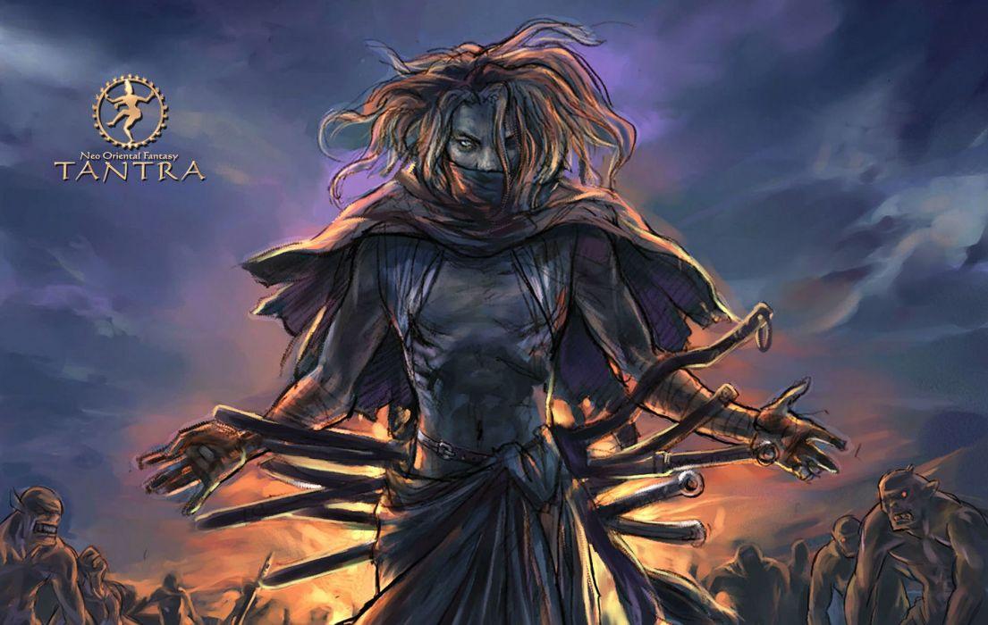 TANTRA ONLINE asian fantasy mmo rpg martial kung action fighting adventure samurai warrior 1tantra poster wallpaper