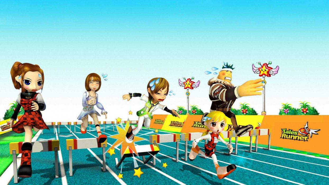 TALES RUNNER casual racing platform fantasy mmo online anime fairy 1talesr race poster wallpaper