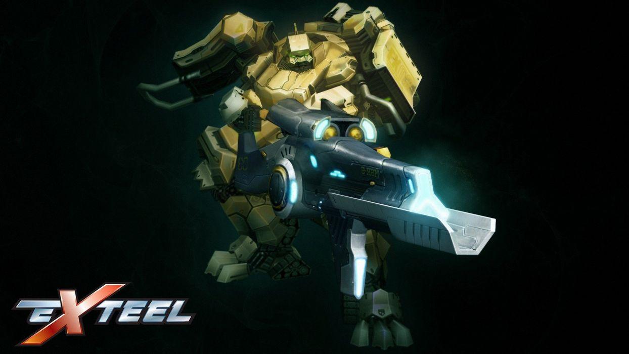EXTEEL shooter tps sci-fi action fighting tactical startegy 1exteel futuristic online mmo warrior mecha robot poster wallpaper