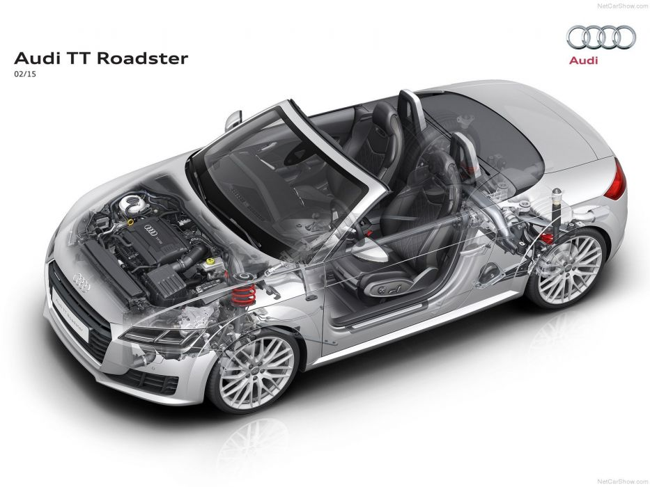 cars Audi T T Roadster Technical 2015 wallpaper