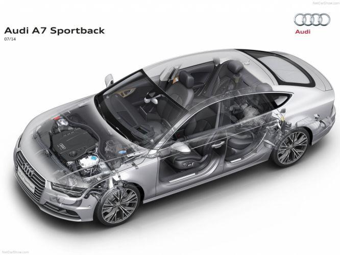 Audi A 7 Sportback Technical cars 2015 suv wallpaper