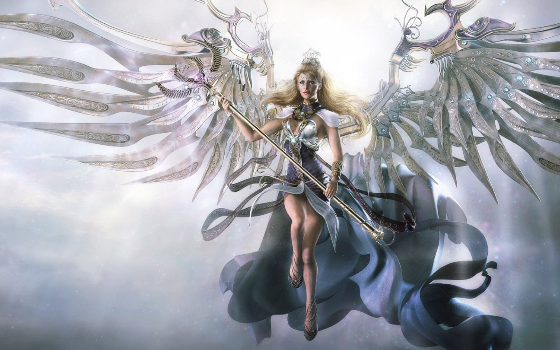 Fantasy angel warrior artwork art wallpaper | 1920x1200 ...