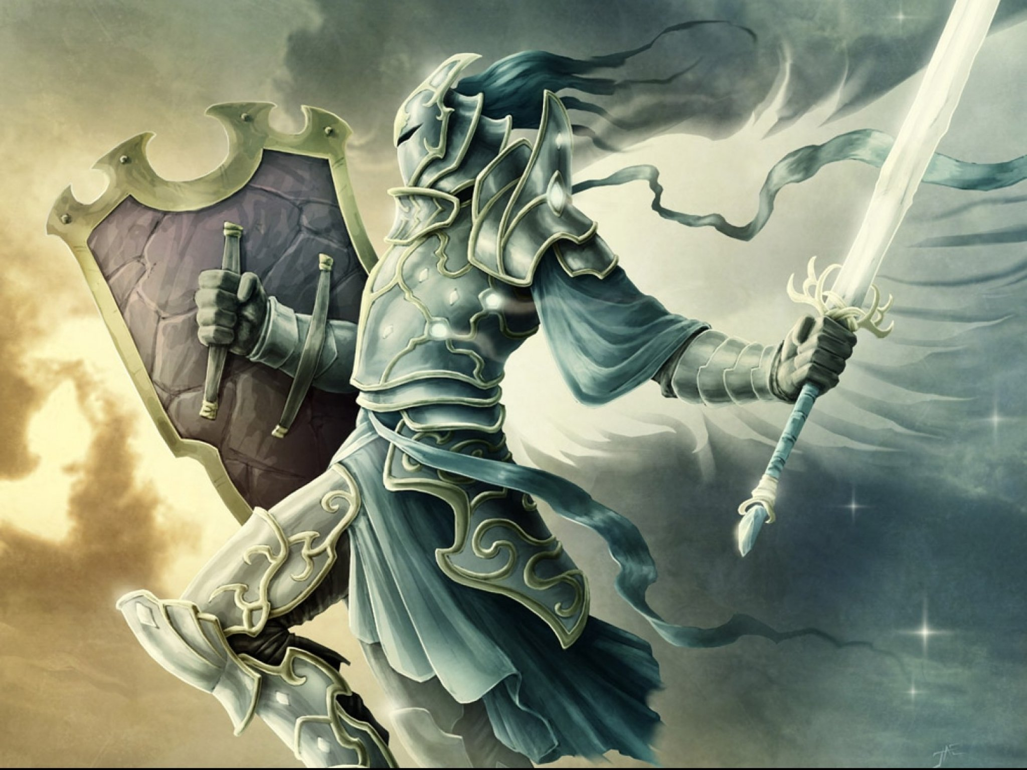 Fantasy angel warrior artwork art wallpaper | 2048x1536 ...