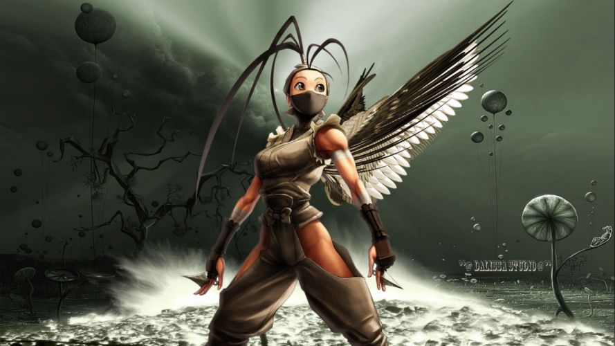 fantasy angel warrior artwork art wallpaper