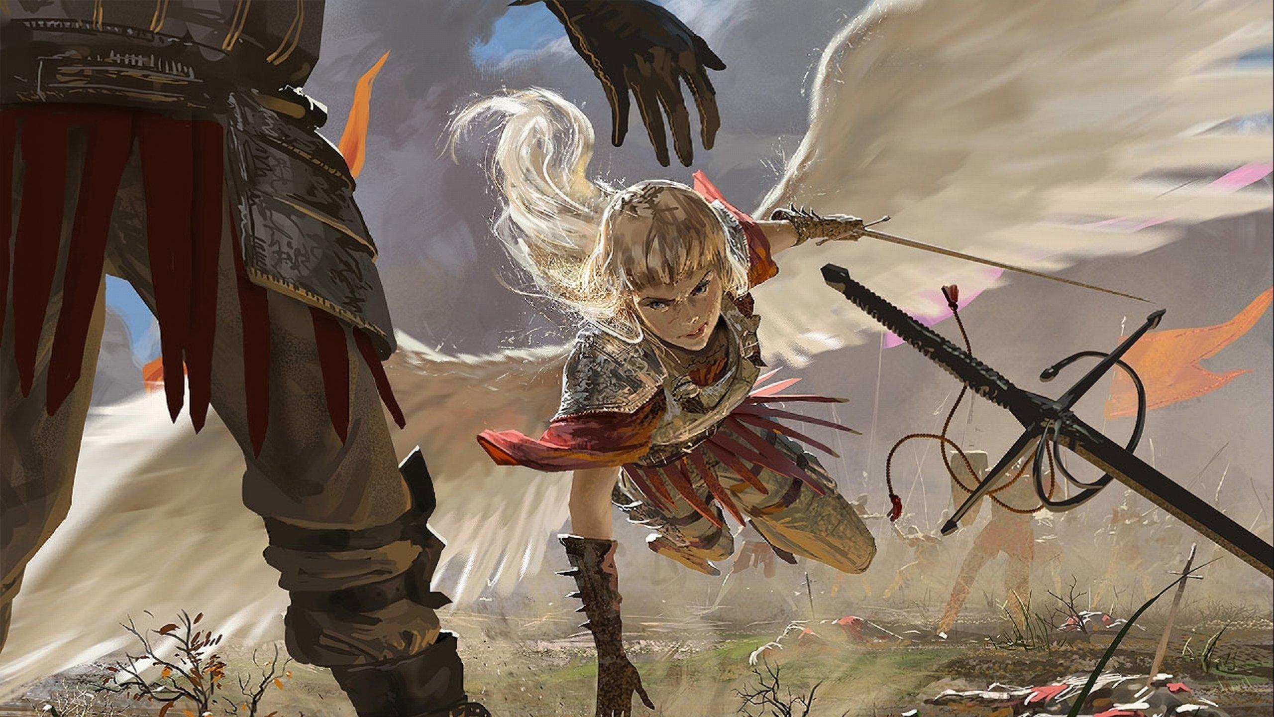 Warrior Fantasy Art Armor Angel Magic Wallpapers Hd: Fantasy Angel Warrior Artwork Art Wallpaper