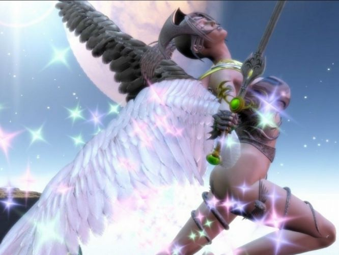 fantasy angel warrior artwork art wallpaper