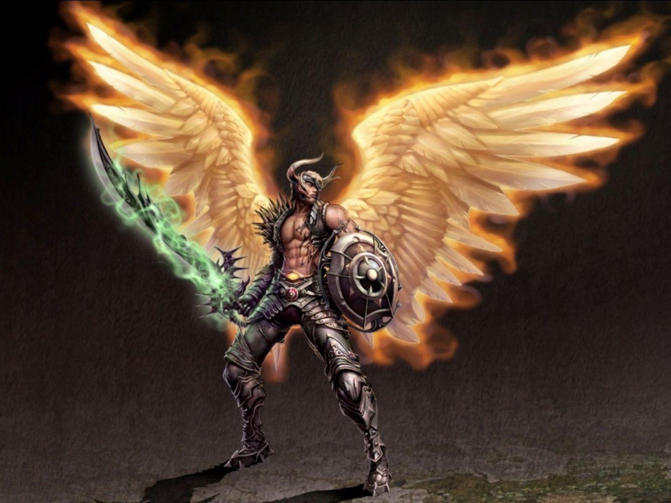 феникс воин парень с крыльями фэнтези картинки