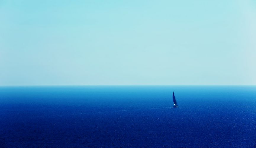 sea ship boat yacht blue ocean sky sunny water earth nature landscapes sailing wallpaper