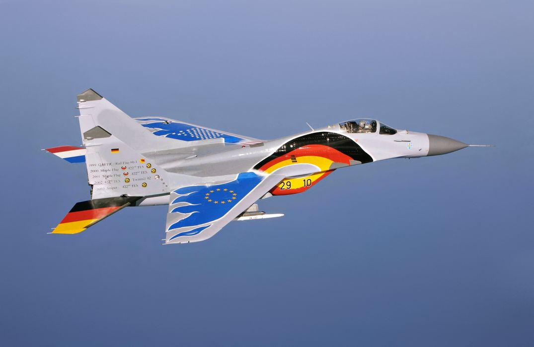 mig-29 mnogocelevoy 2008 Germany the Netherlands military aircraft fighter sky wallpaper