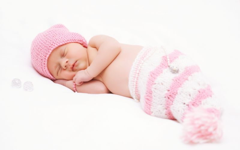 Baby Beautiful bed childhood children flower kids life little sleep wallpaper