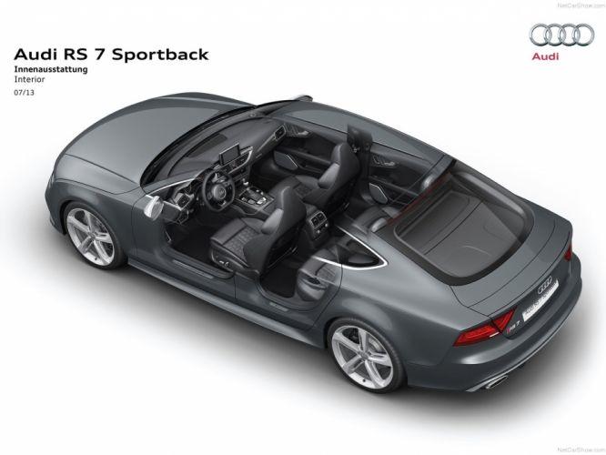 Audi RS7 Sportback Technical cars 2014 wallpaper