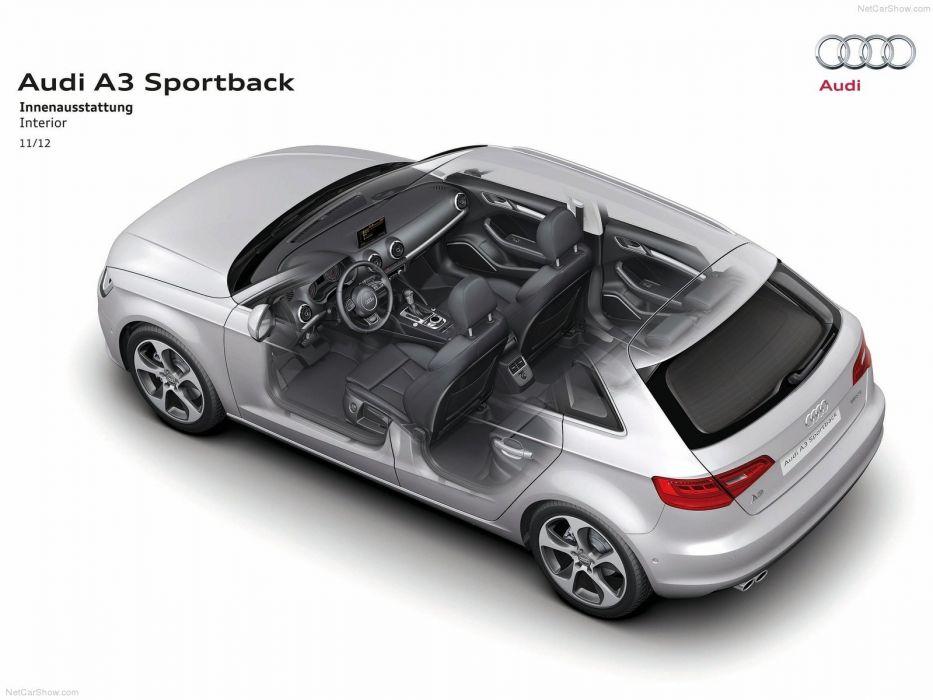 Audi A 3 Sportback S-Line Technical cars 2014 wallpaper