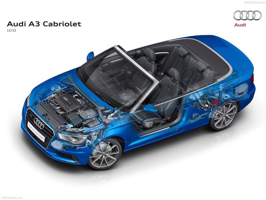 Audi A 3 cabriolet Technical cars 2014 wallpaper