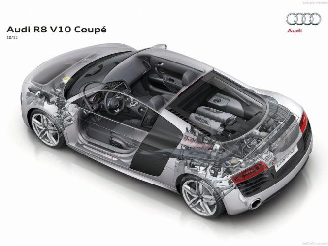 Audi R 8 V10 Technical cars 2013 wallpaper