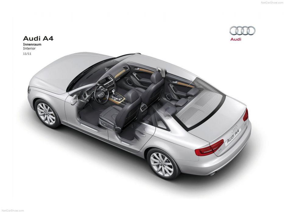 Audi A 4 sedan Technical cars 2013 wallpaper