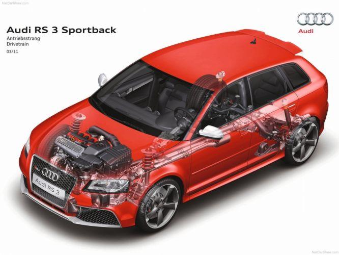 Audi RS3 Sportback Technical cars 2012 wallpaper
