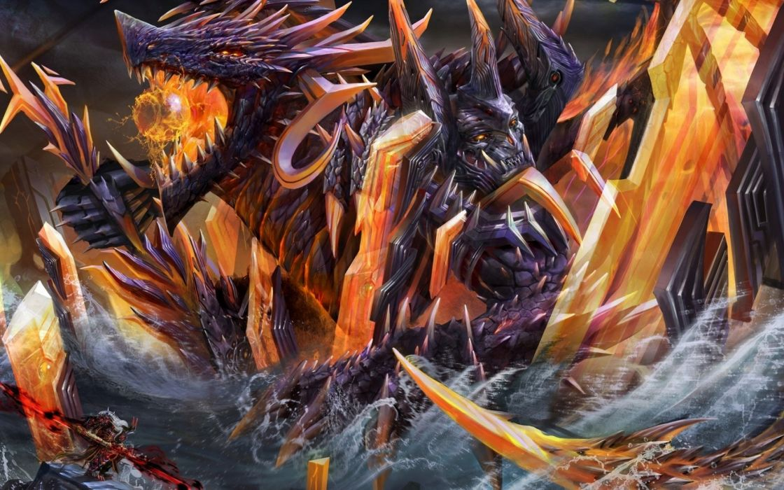 dragon fantasy artwork art dragons wallpaper