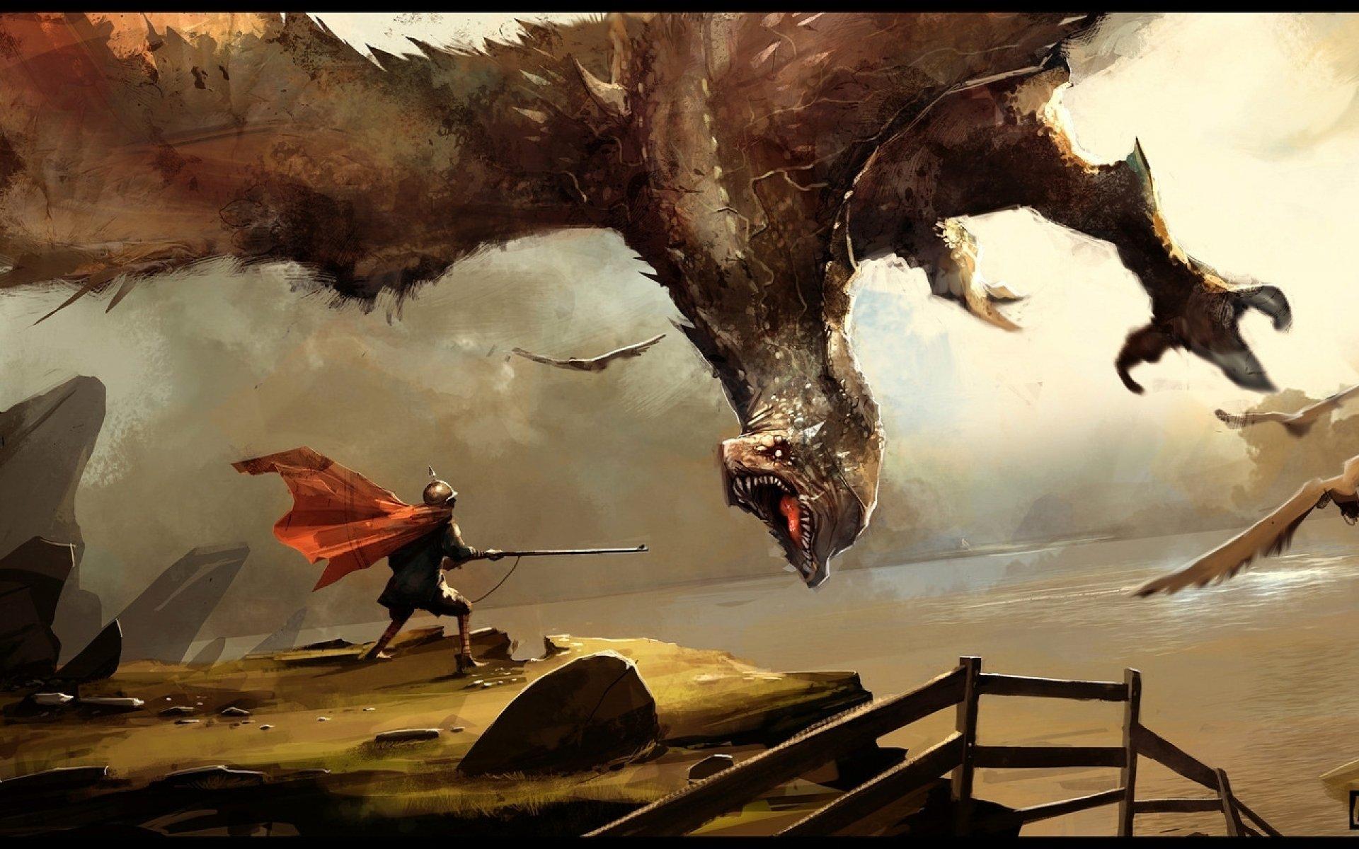 dragons fantasy wallpaper 1920x1200 - photo #32