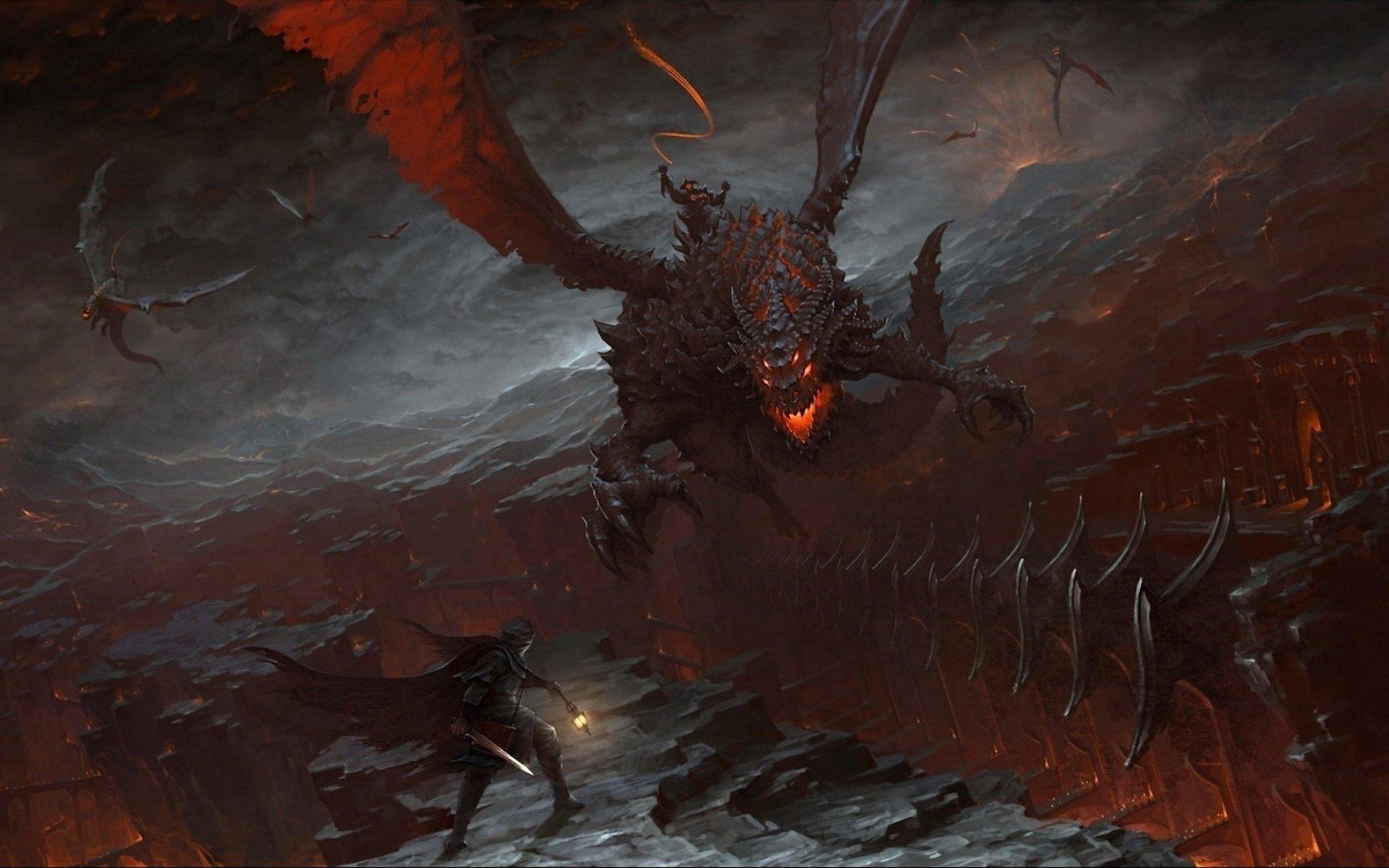 dragons fantasy wallpaper 1920x1200 - photo #17