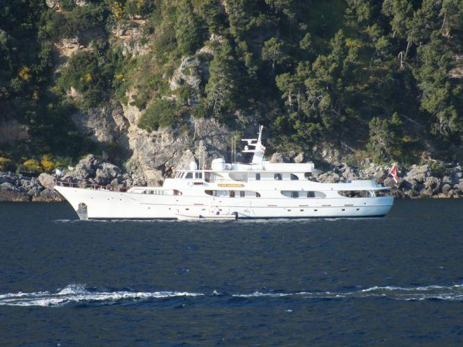 ship yacht sea ocean water blue coast wallpaper