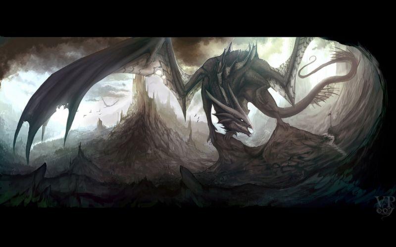 dragon dragons fantasy artwork art wallpaper