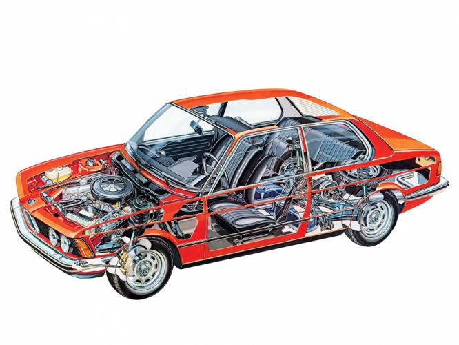 BMW 320 Coupe technical cars wallpaper