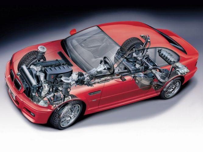 BMW M 3 Coupe E46 technical cars wallpaper