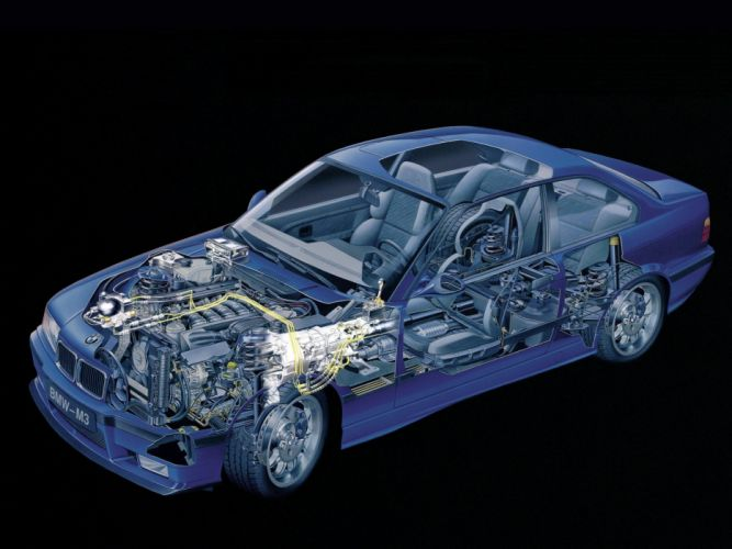 BMW M 3 Coupe technical cars wallpaper
