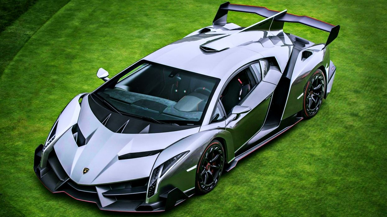 lamborghini veneno venenno grass green cars supercars motors speed silver gray wallpaper