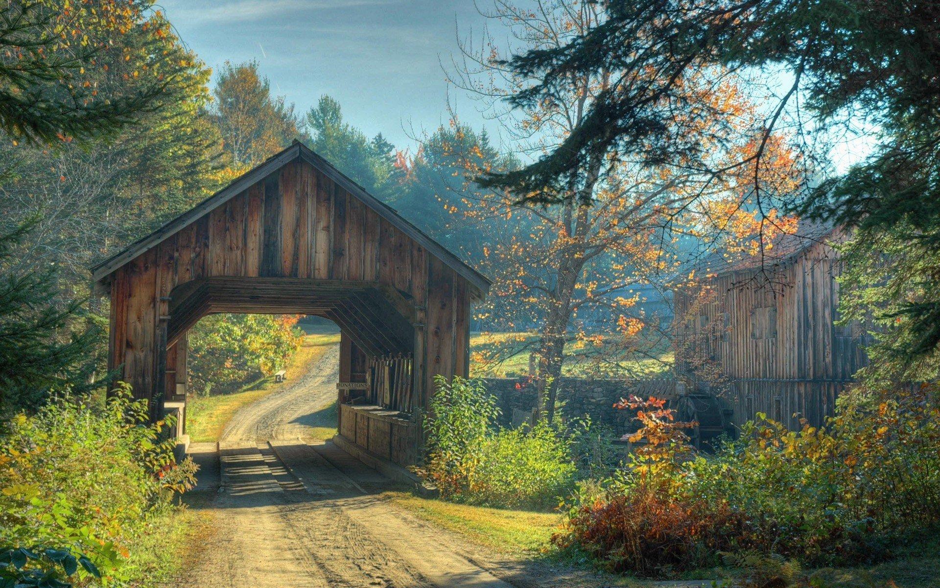 landscape wallpaperwooden bridgecabin - photo #1
