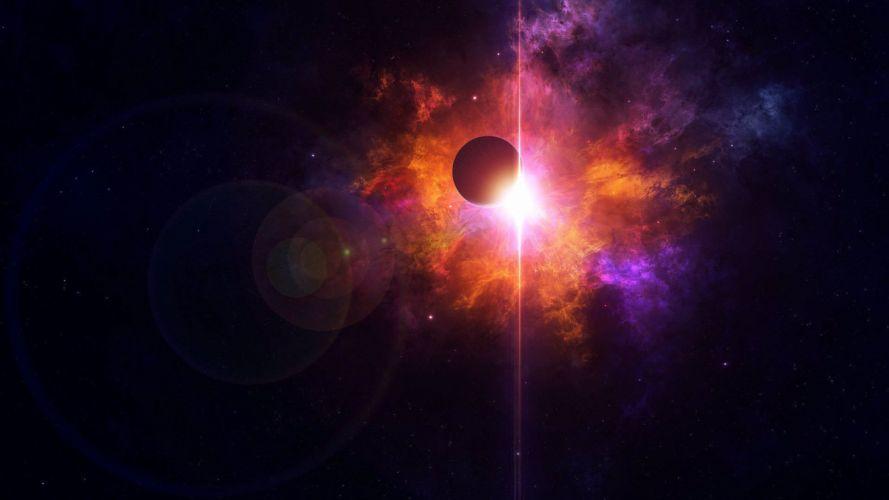 light planet space star color light amazing wallpaper