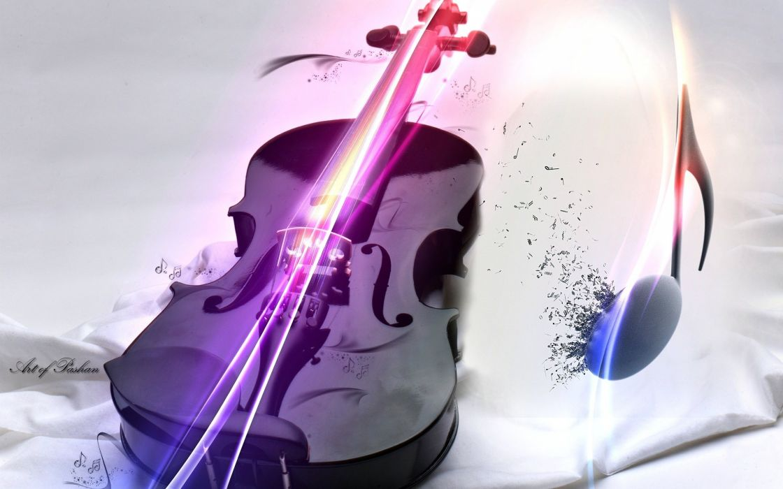 Music Black White Violin Inspiration Note Violin Wallpaper