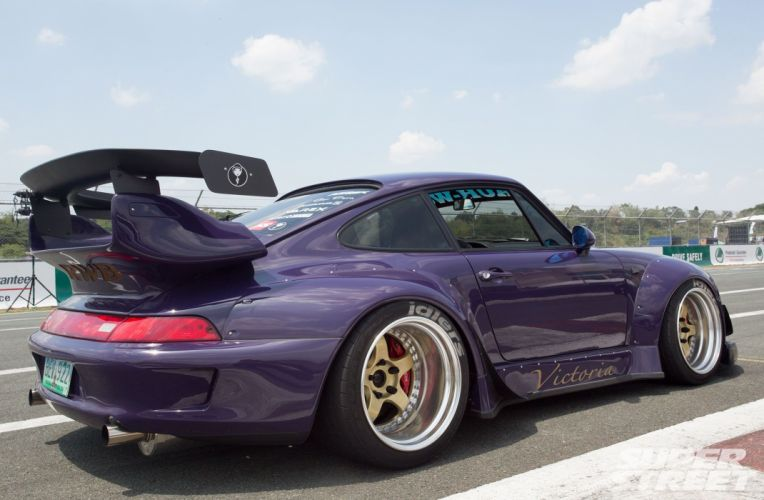 1994 Porsche 993 Carrera 2 RWB bodykit tuning wallpaper