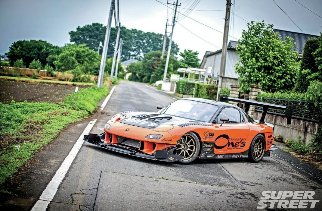 1998 mazda RX7 coupe cars bodykit tuning wallpaper