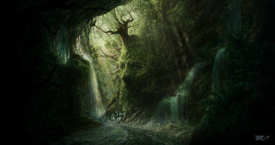 Enlightone: Artwork Fantasy Magical Art Forest Tree Landscape Nature