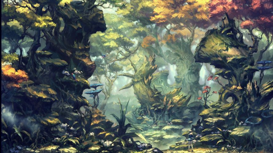 artwork fantasy magical art forest tree landscape nature wallpaper