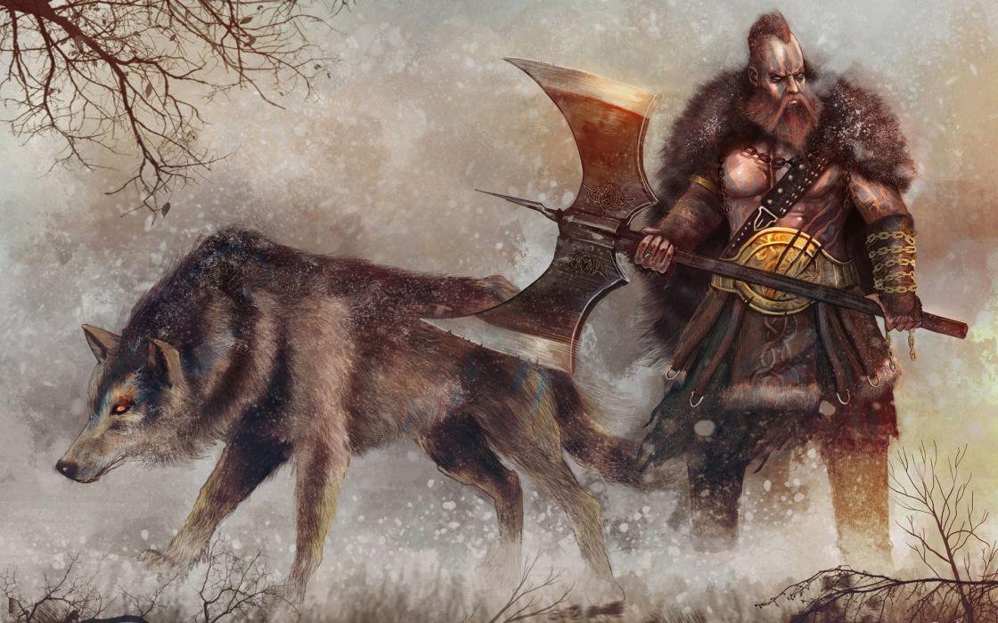 fantasy artwork art warrior wallpaper