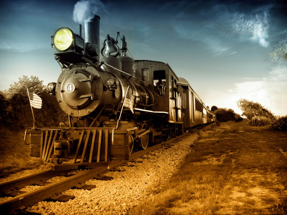 train railroad tracks locomotive engine trains wallpaper