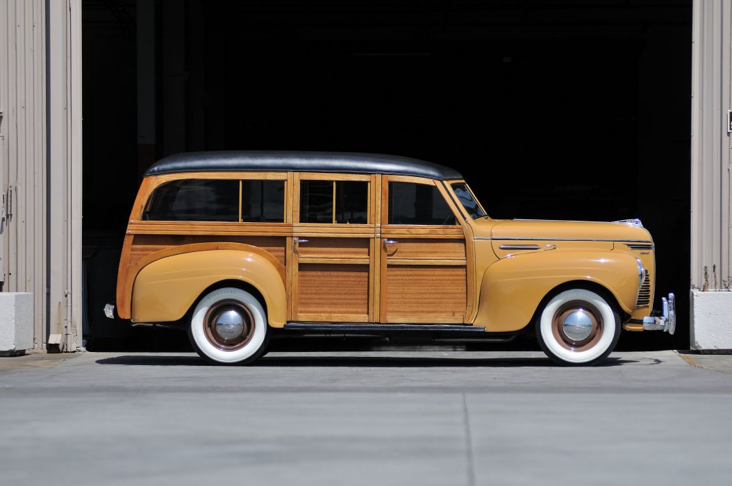 1940 Plymouth Woody Wagon Classic Old Vintage USA 4288x2848-02 wallpaper