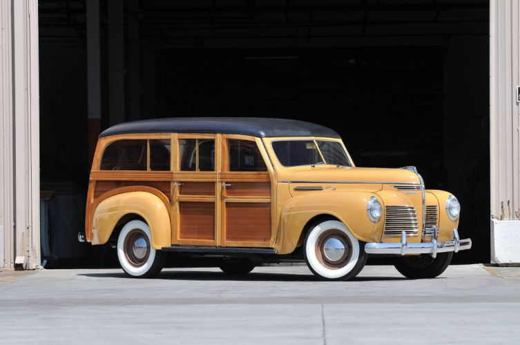 1940 Plymouth Woody Wagon Classic Old Vintage USA 4288x2848-01 wallpaper