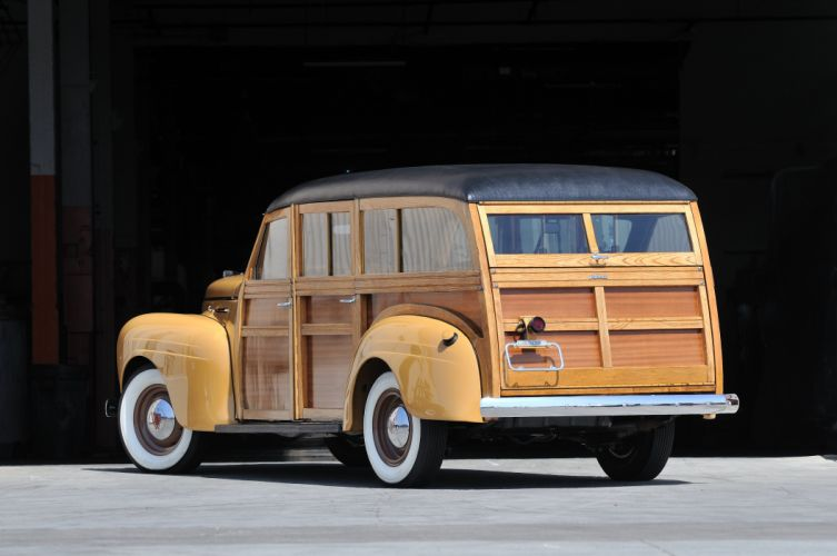 1940 Plymouth Woody Wagon Classic Old Vintage USA 4288x2848-03 wallpaper