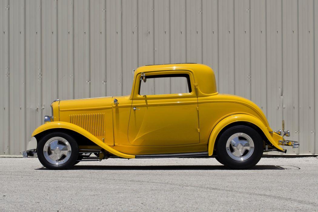 1932 Ford 3Window Coupe Streetrod Hotrod Street Rod Hot Yellow USA 4500x3000-03 wallpaper