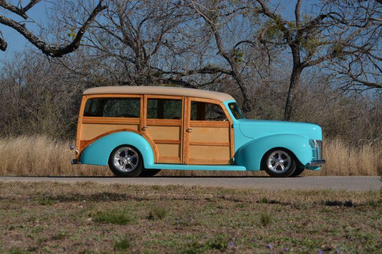 1940 Ford Deluxe Woody Wagon Hotrod Streetrod Hot Rod Street USA 6000x4000-01 wallpaper
