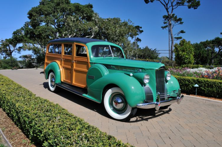 1940 Packard Eight Wagon Wood Classic Old Vintage USA 4288x2848-01 wallpaper